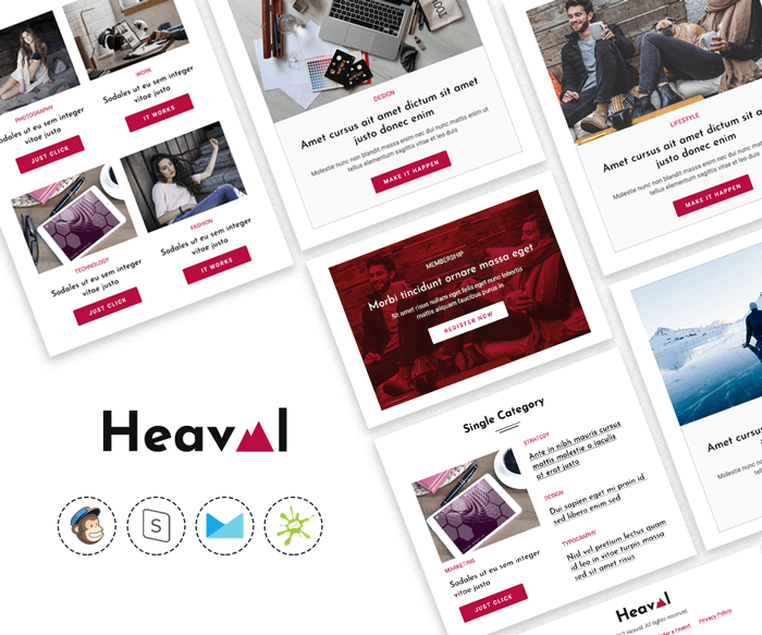 Heaval - Multipurpose blog email template preview