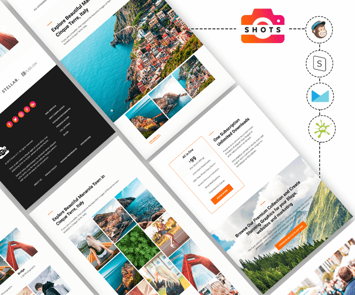 Shots v1.0 - Photography Email Template