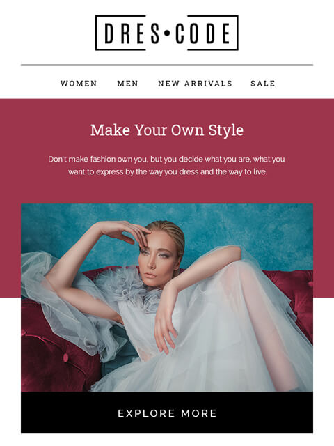 Fashion ecommerce email templates html