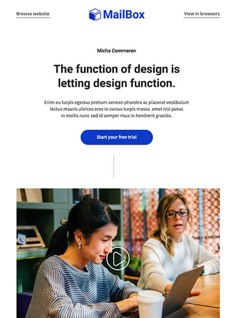 Multipurpose promotional email templates for Marketers