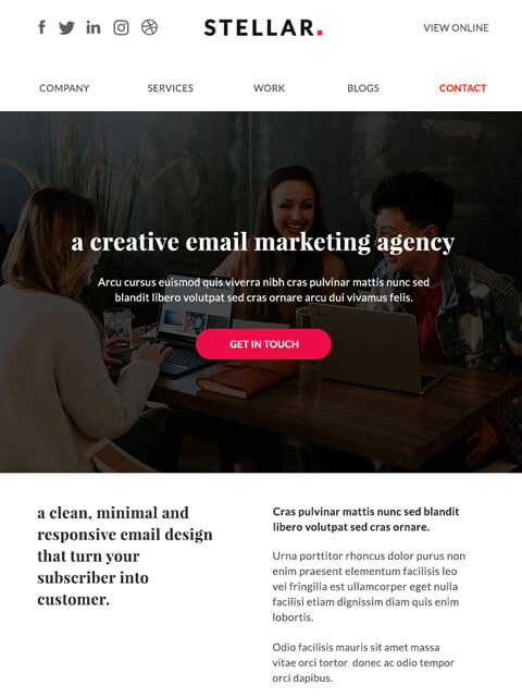 Digital marketing professional email newsletter templates